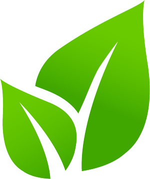 graphic leaf logo for tea