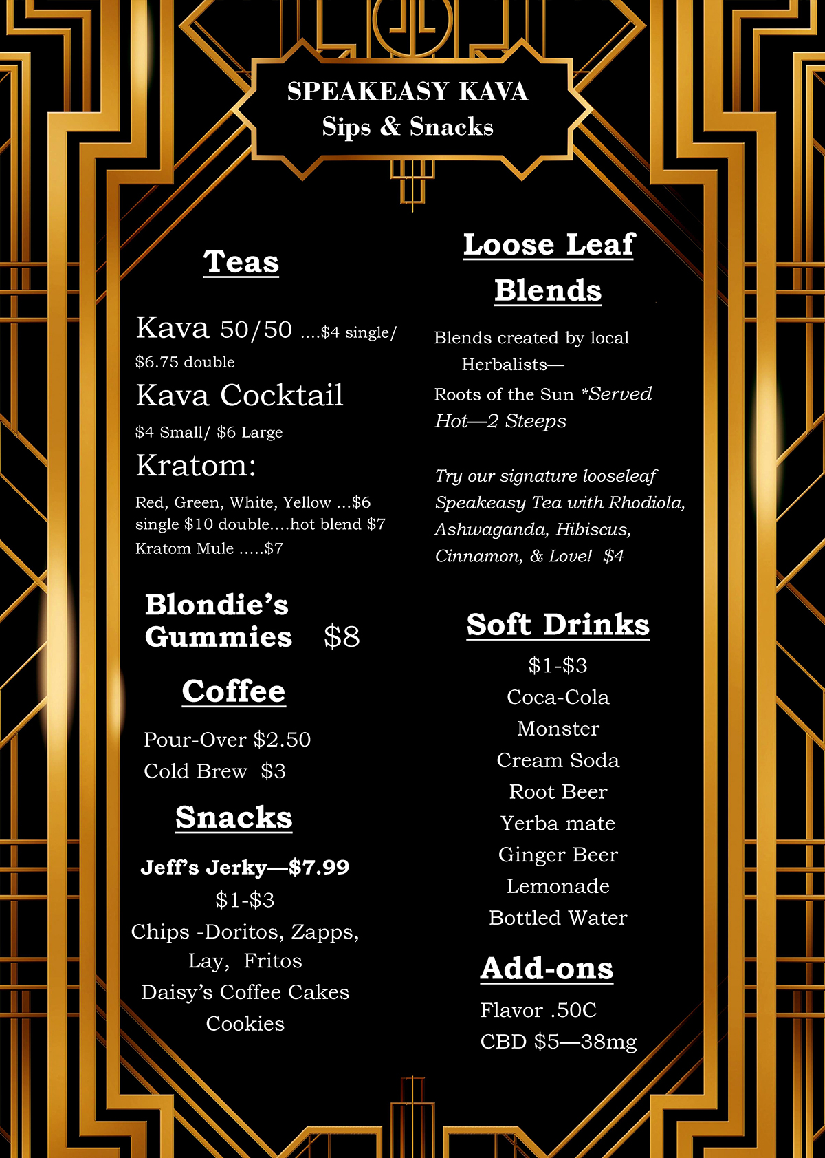 speakeasy kava tea bar menu 7-24-18