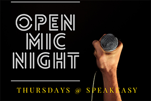 open mic night speakeasy kava events