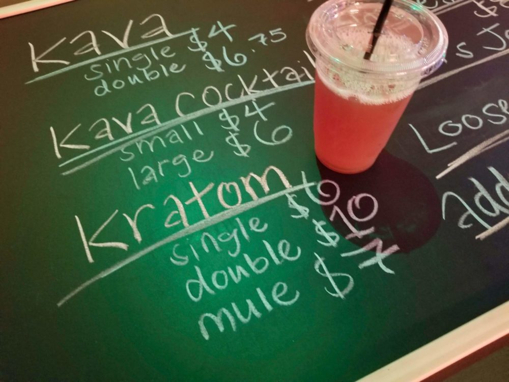 kratom-tea-chalkboard-background